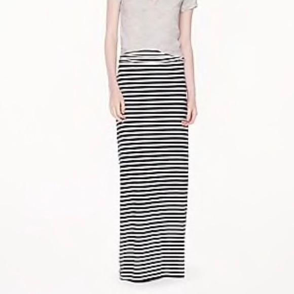 3ad91ea196 J. Crew Skirts | J Crew Stripe Jersey Maxi Skirt 82798 M | Poshmark